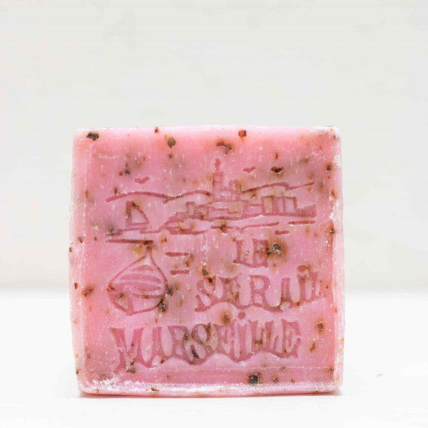 Savon de Marseille pétales de rose cube 150GR LE SERAIL