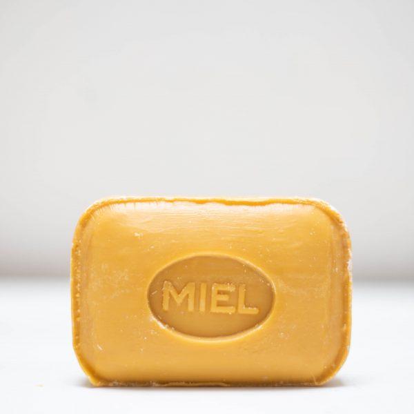 Savonnette de Marseille rectangulaire de couleur jaune et au parfum miel
