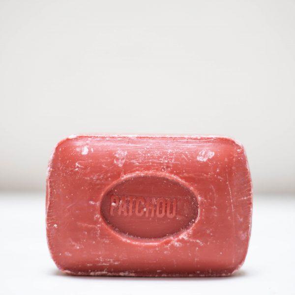 Savonnette de Marseille rectangulaire de couleur rouge
