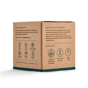 peppeemint toothpowder box