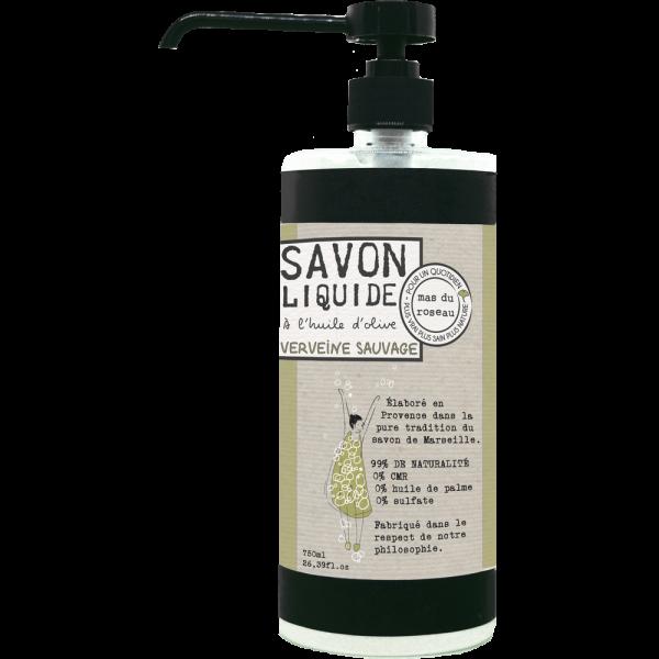 Savon liquide à l'huile d'olive – VERVEINE SAUVAGE 750ML