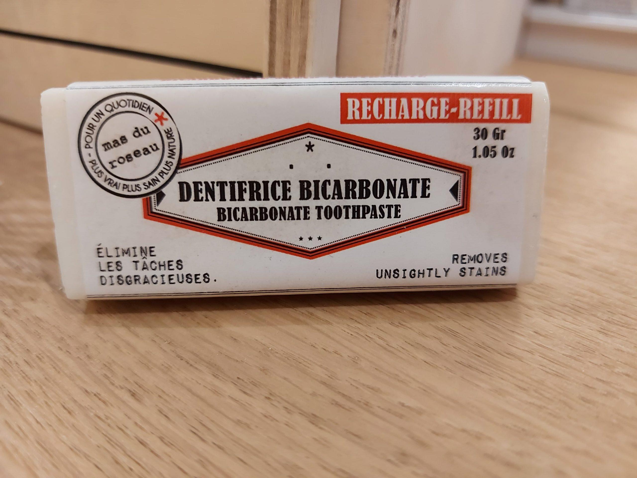 Recharge Dentifrice Solide Bicarbonate & Citron BIO